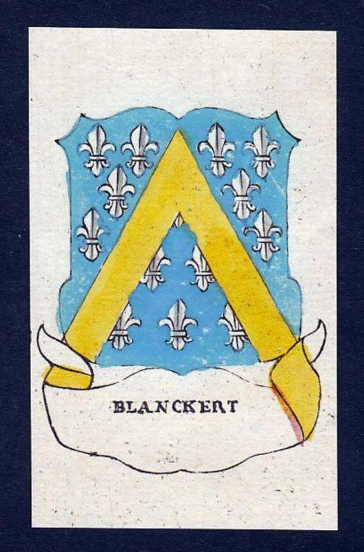 Blanckert - Blanckert Blankert Wappen Adel coat of arms heraldry Heraldik Kupferstich engraving