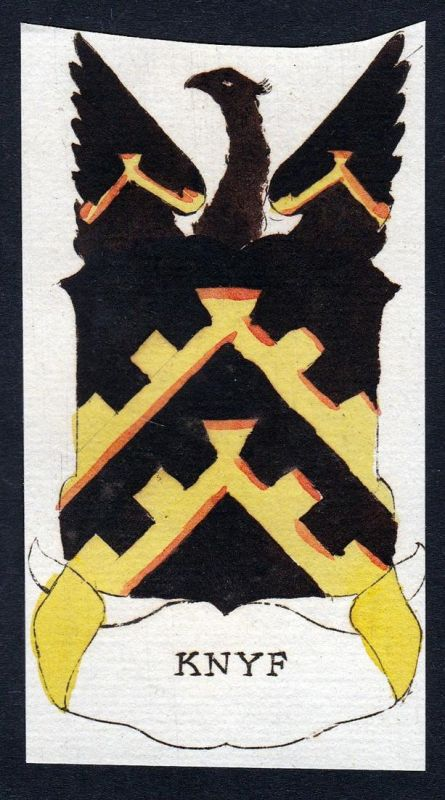 Knyf - Knyf Wappen Adel coat of arms heraldry Heraldik Kupferstich engraving