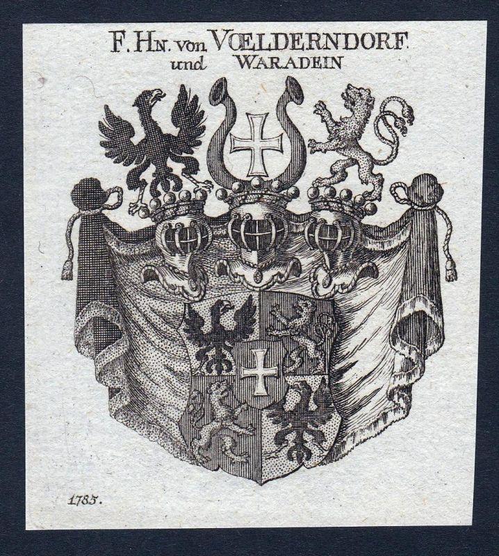 F. Hn. von Voelderndorf und Waradein - Voelderndorf Völderndorff Waradein Wappen Adel coat of arms heraldry He