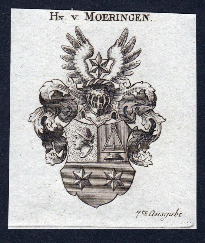 F.Hn. v. Moeringen - Moeringen Möringen Sachsen-Anhalt Wappen Adel coat of arms heraldry Heraldik Kupferstich