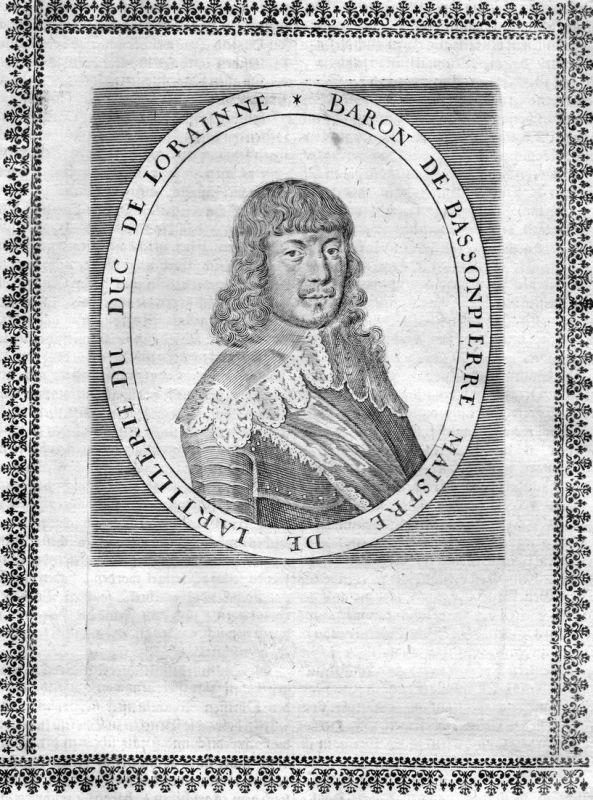 Baron de Bassonpierre - Francois de Bassompierre gravure Portrait Kupferstich antique print