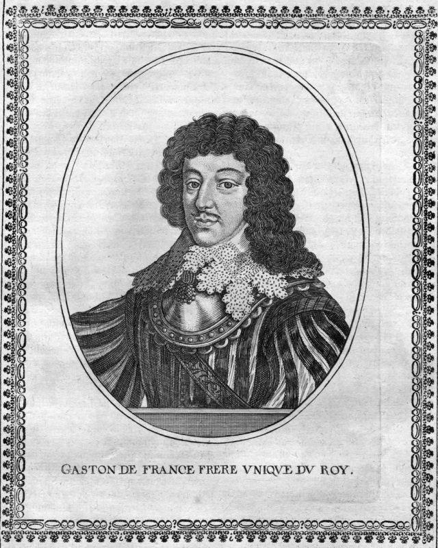 Gaston de France Frere - Gaston de Bourbon d'Orleans Portrait Kupferstich antique print