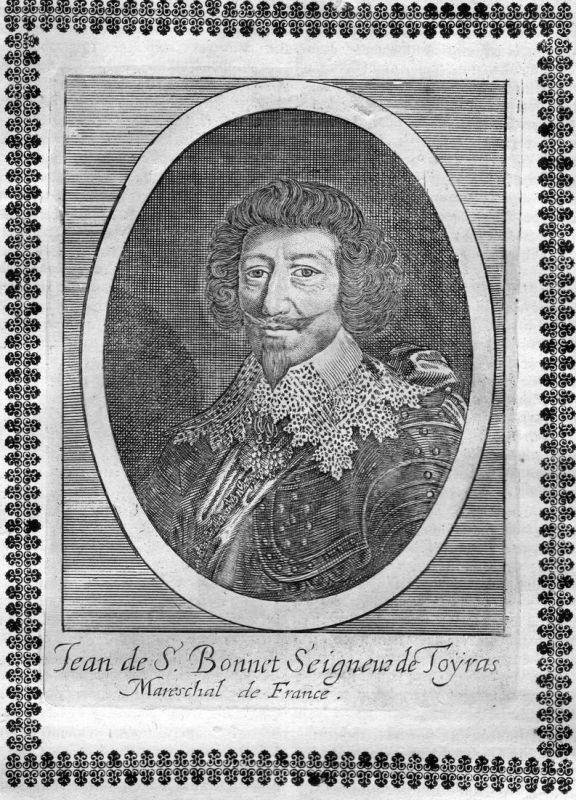 Jean de S. Bonnet Seigneur de Toyras - Jean de Saint-Bonnet de Toiras Portrait Kupferstich antique print