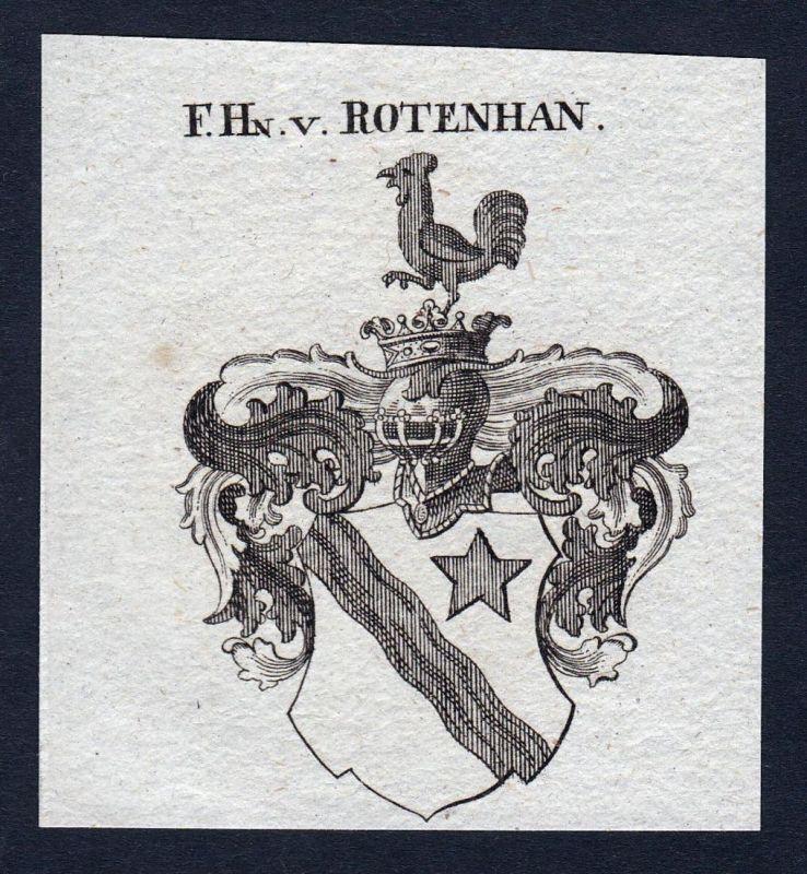 F. Hn. v. Rotenhan - Rotenhan Franken Wappen Adel coat of arms heraldry Heraldik Kupferstich engraving