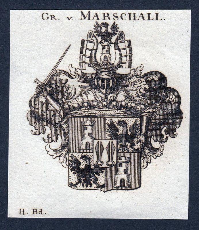 Gr. v. Marschall - Marschall Thüringen Wappen Adel coat of arms heraldry Heraldik Kupferstich engraving