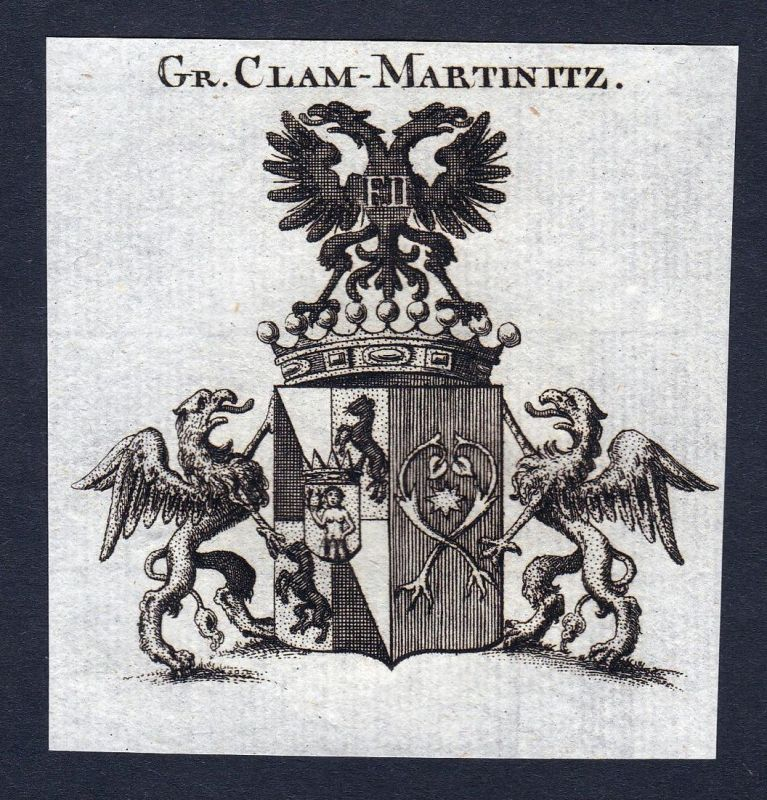 Gr. Clam-Martinitz - Clam-Martinic Clam-Martiniz Clam-Martinitz Höhenberg Hoehenberg Wappen Adel coat of arms