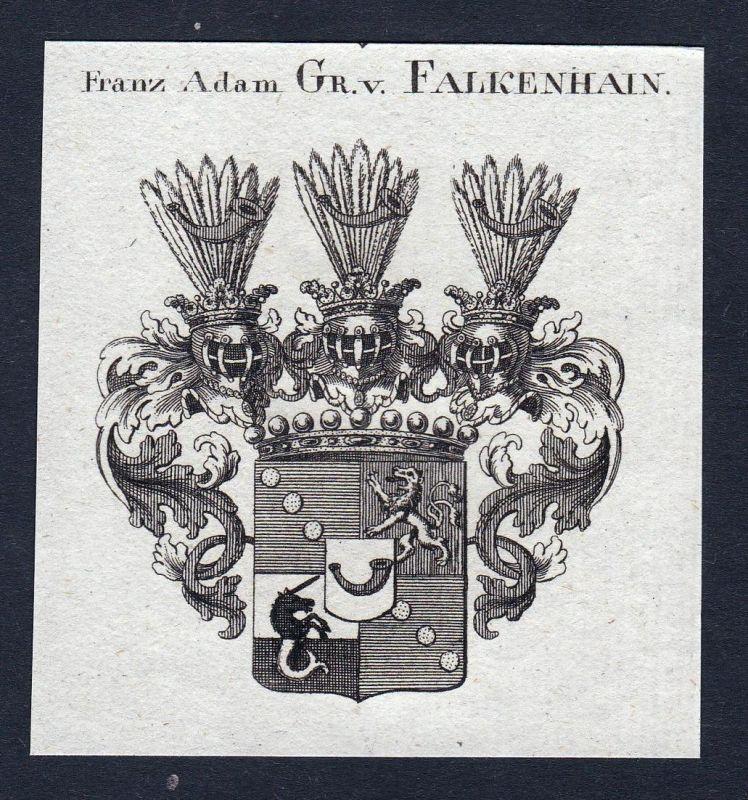 Franz Adam Gr. v. Falkenhain - Franz Adam Falkenhain Frankenhayn Wappen Adel coat of arms heraldry Heraldik Ku