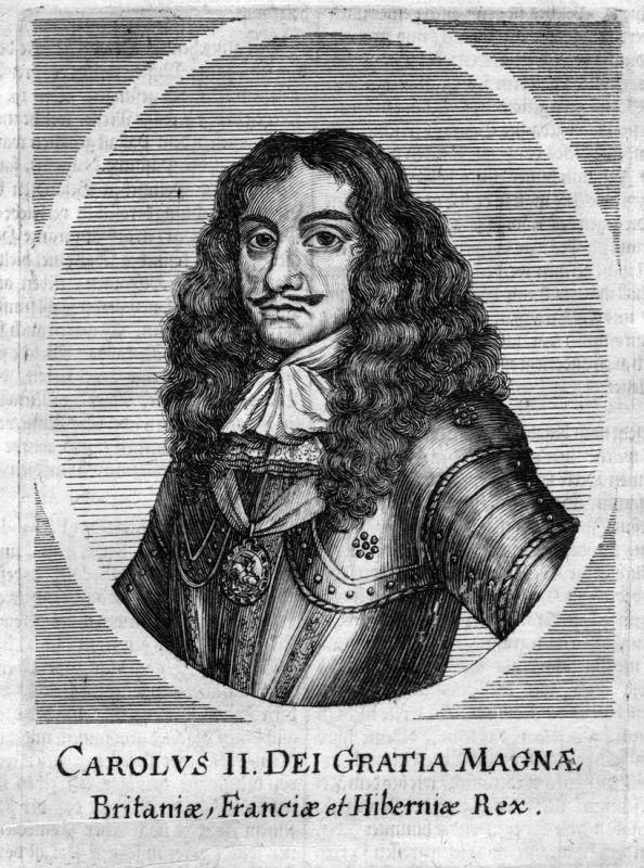 Carolus II - Chalres II England Scotland Ireland Portrait Kupferstich antique print