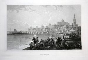 Cordova - Cordoba Andalusia Espana vista view Ansicht Stahlstich antique print