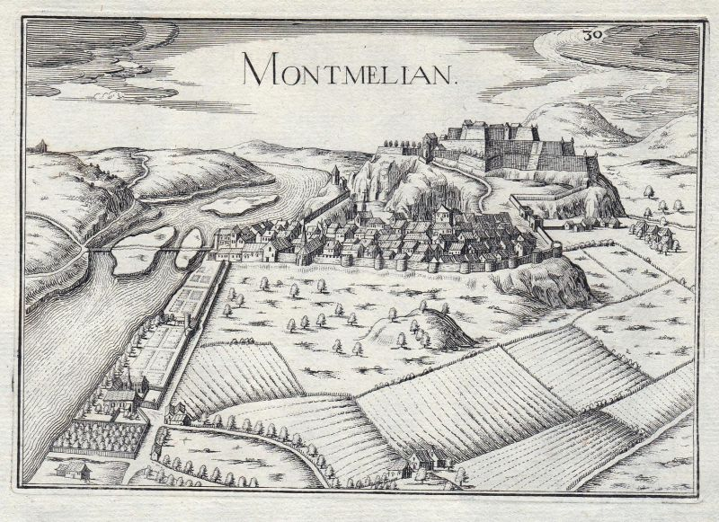 Fort de Barrault - Montmelian Savoie Rhone-Alpes Isere France gravure estampe Kupferstich Tassin