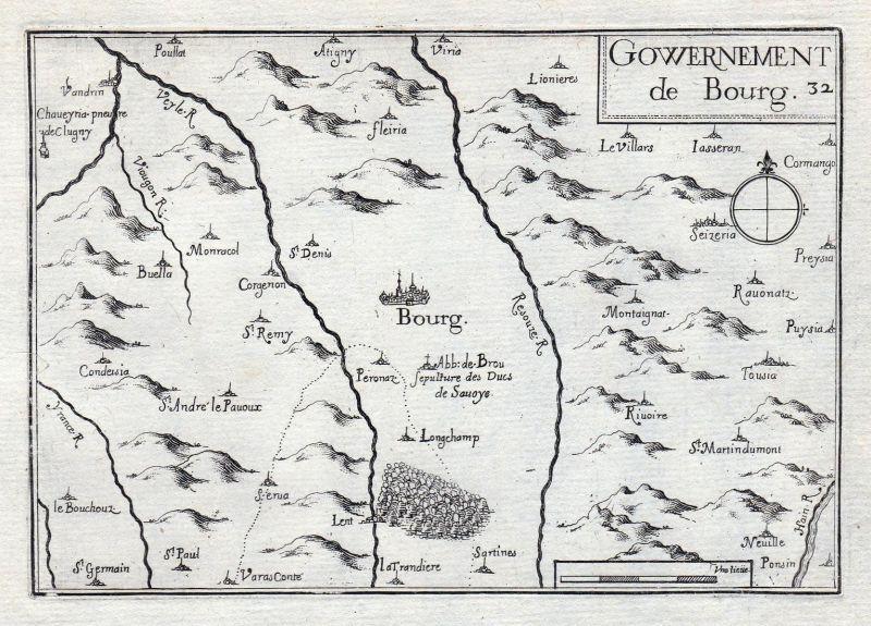 Gouvernement de Bourg - Bourg Auvergne-Rhône-Alpes Ain France gravure estampe Kupferstich Tassin