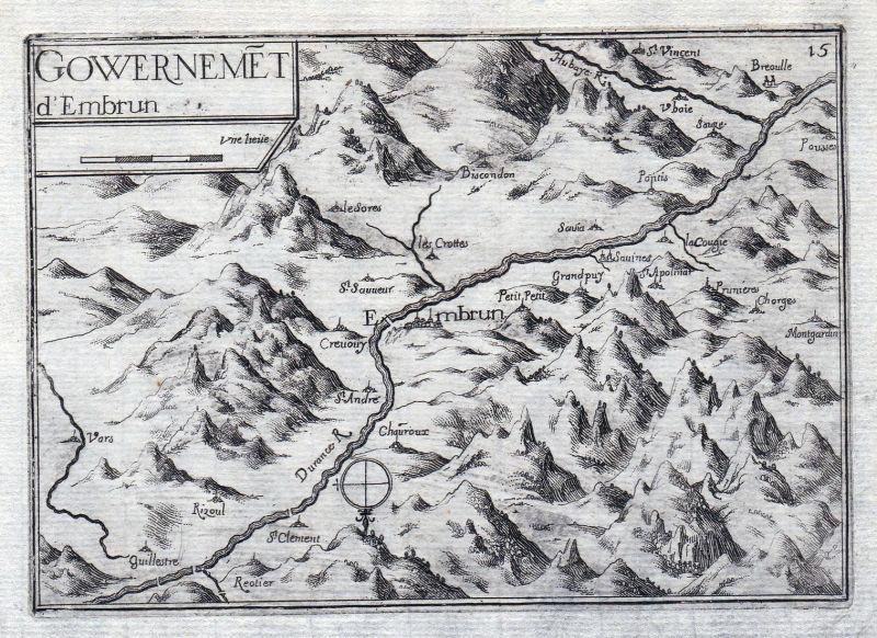 Gouvernemet d' Embrun - Embrun Provence-Alpes-Côte d'Azur Hautes-Alpes France gravure estampe Kupferstich Tass