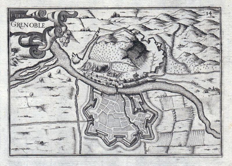 Grenoble - Grenoble Auvergne-Rhône-Alpes Isere France gravure estampe Kupferstich Tassin
