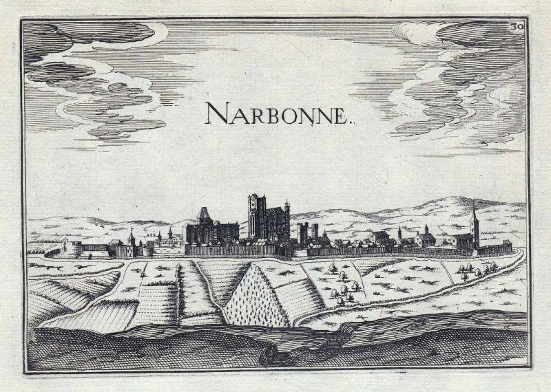 Narbonne - Narbonne Aude France gravure estampe Kupferstich Tassin