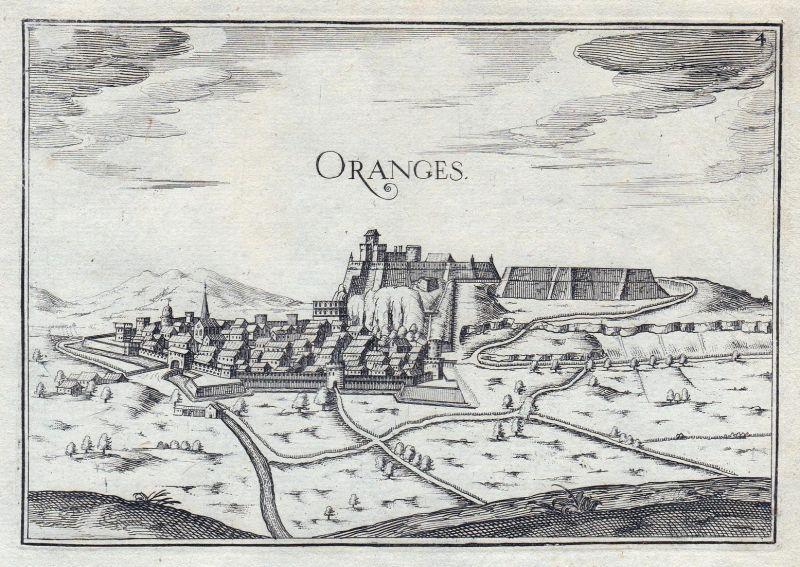 Oranges - Orange Provence-Alpes-Côte d'Azur Vaucluse France gravure estampe Kupferstich Tassin