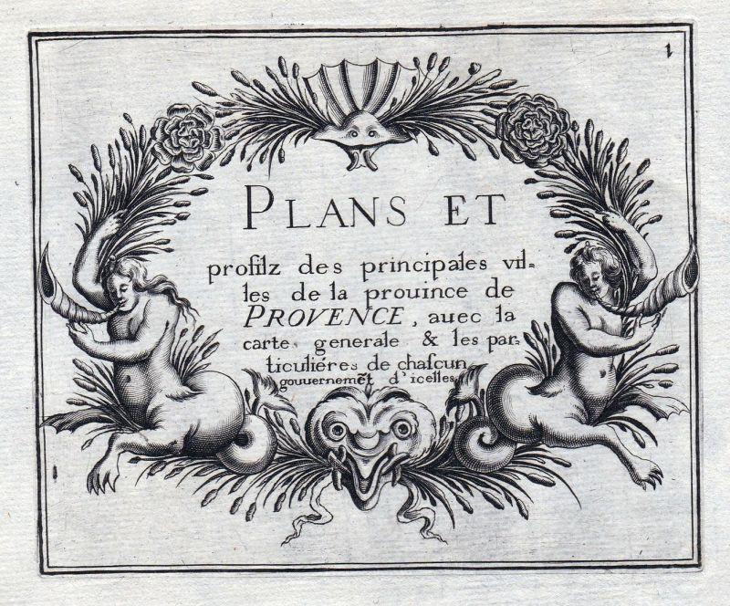 Plans et... Provence... - Provence Ornament titel France gravure estampe Kupferstich Tassin