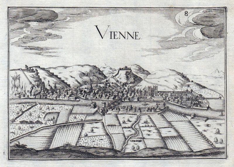Vienne - Vienne Auvergne-Rhone-Alpes Dauphine France gravure estampe Kupferstich Tassin