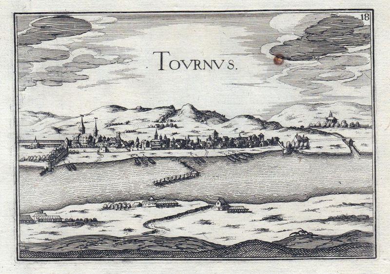 Tournus - Tournus Saone-et-Loire Bourgogne Burgund France gravure estampe Kupferstich Tassin