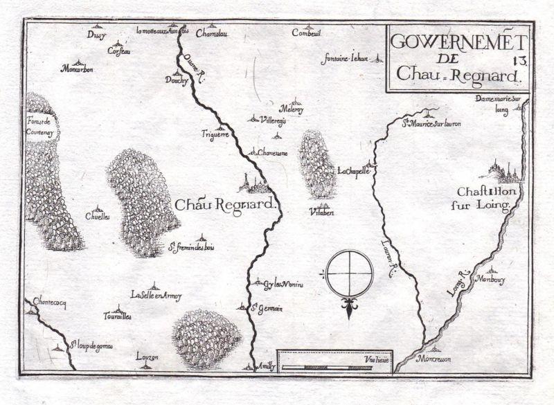 Gouvernemet de Chau-Regnard - Châteaurenard Provence-Alpes-Côte d'Azur France gravure estampe Kupferstich Tass