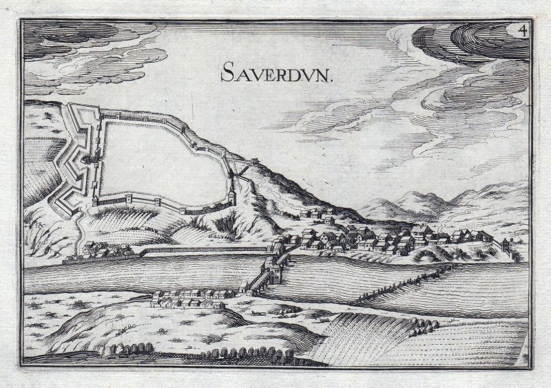Saverdun - Saverdun Ariege France gravure estampe Kupferstich Tassin