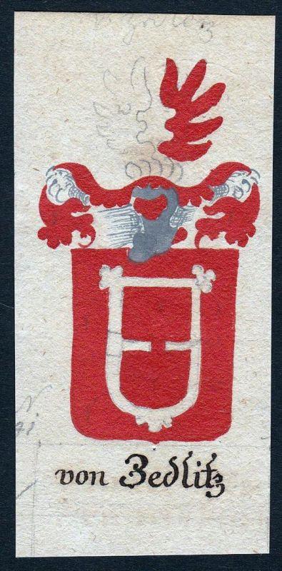 Von Zedlitz - Zedlitz Böhmen Manuskript Wappen Adel coat of arms heraldry Heraldik