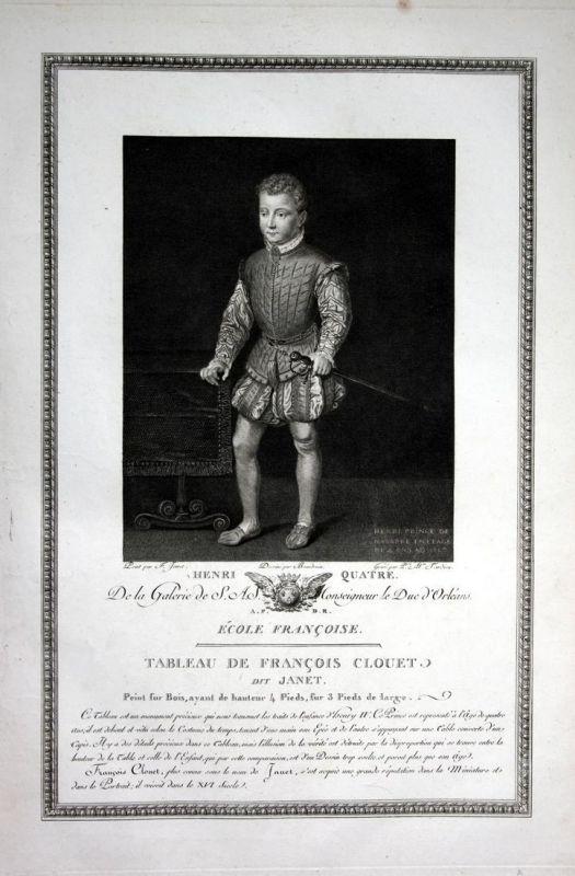 Henri Quatre - Henri Quatre le Grand France roi Kupferstich antique print