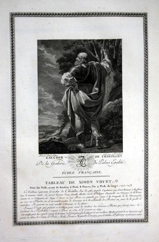Gaucher de Chastillon - Gaucher de Chatillon Portrait gravure Kupferstich antique print