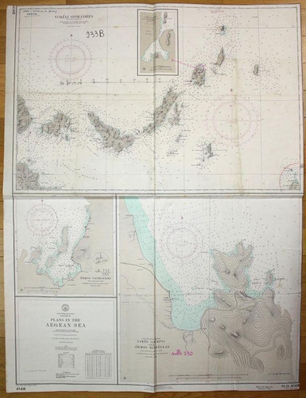 Mediterranean Sea - Greece - Plans in the Aegean Sea