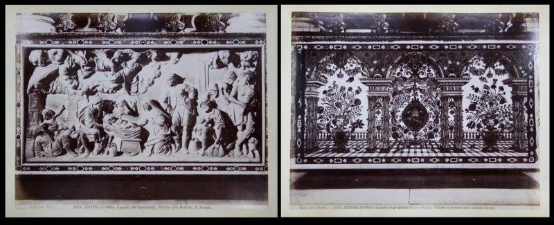 Certosa di Pavina (Cappella dell'Annunziata). Paliotto colla Nativita / Certosa di Pavina (Capella degli apost