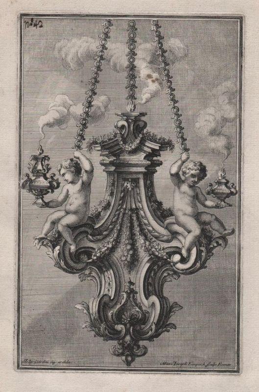 chandelier Leuchter candles Kerzen silver silversmith design baroque