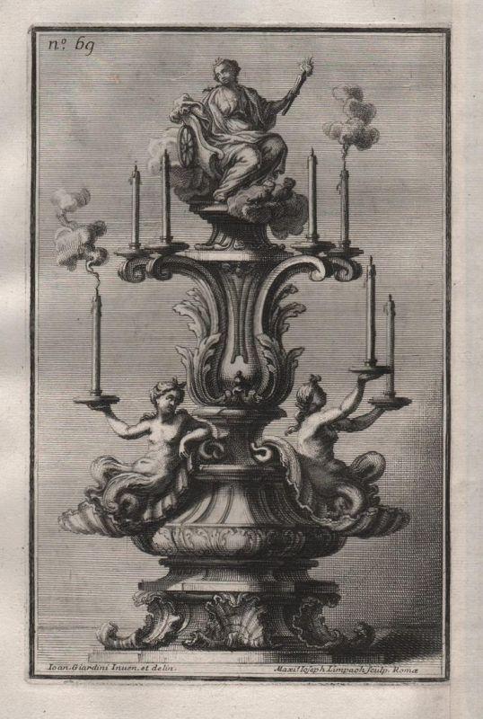 Kerzenhalter chandelier Leuchter candles silver silversmith design baroque
