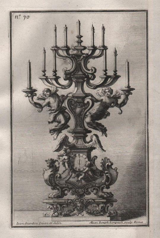 Leuchter chandelier candles Kerzenhalter silver silversmith design baroque