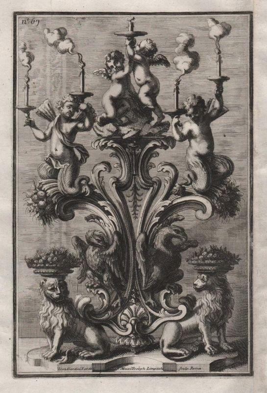 Kerzenhalter Leuchter chandelier candles silver silversmith design baroque