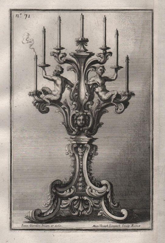 Leuchter chandelier silver candles Kerzenhalter silversmith design baroque