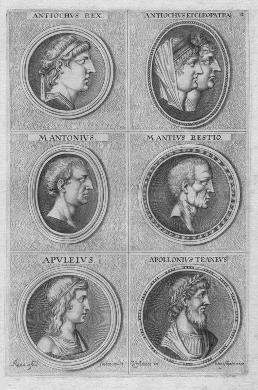 Antiochus Rex - Antiochus et Cleopatra - M. Antonius - Mantius Restio - Apuleius - Apollonius Teaneus - Antike