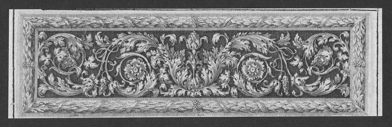 Blumen flowers Trauben grapes Rahmen frame etching Kupferstich antique print