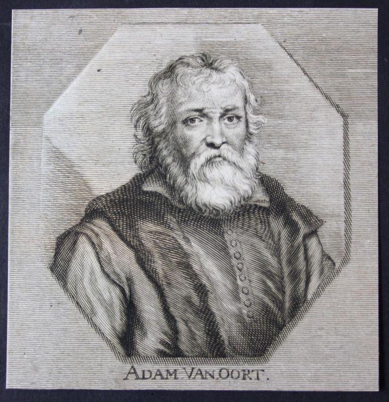 Adam van Oort - Adam van Noort Oort Maler painter Kupferstich etching Portrait