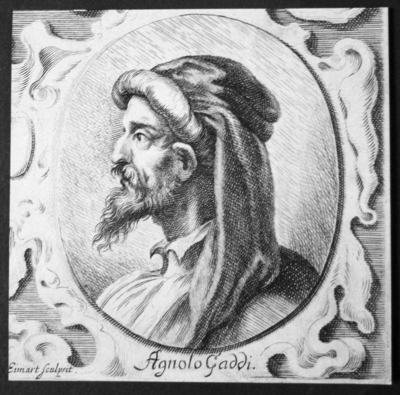 Agnolo Gaddi - Agnolo Gaddi Italien Italia Italy Maler painter Kupferstich etching Portrait