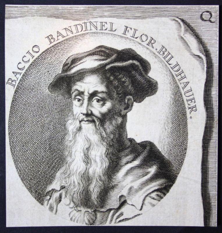 Baccio Bandinel Flor. - Baccio Bandinelli Italia Italien Bildhauer sculptor Kupferstich etching Portrait