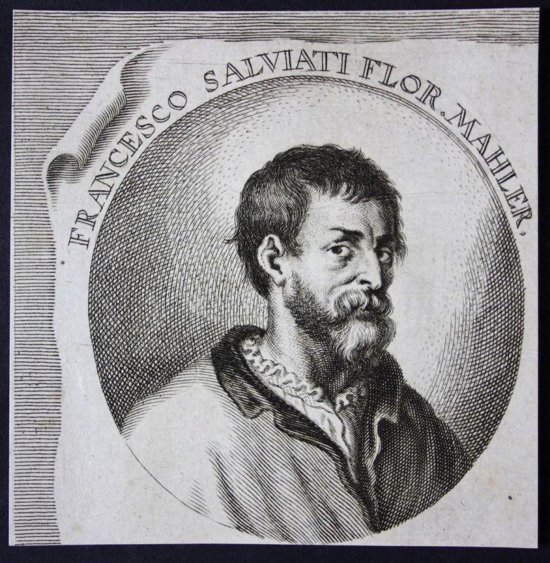 Francesco Salviato Flor. - Francesco Salviati Italia Italien Maler painter Kupferstich etching Portrait