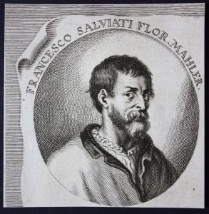 Francesco Salviato Flor. - Francesco Salviati Italia Italien Maler painter Kupferstich etching Portrait