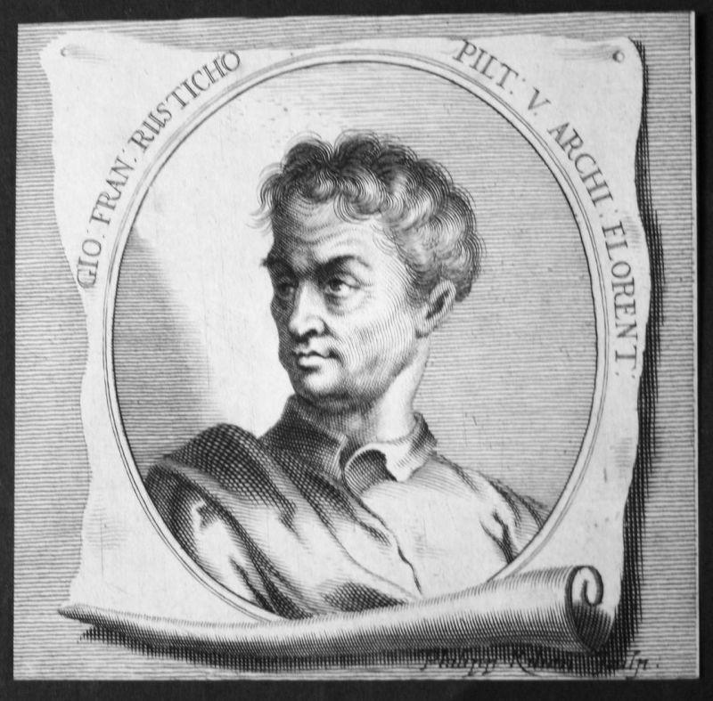 Gio. Fran. Rusticho - Giovanni Francesco Rustici Bildhauer sculptor Maler painter Kupferstich etching Portrait
