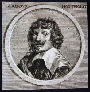 Gerardus Honthorst - Gerrit van Honthorst Niederlande Maler painter Kupferstich etching Portrait