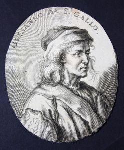 Gulianno da S. Gallo - Giuliano da Sangallo Architekt architect Bildhauer sculptor Kupferstich etching Portrai