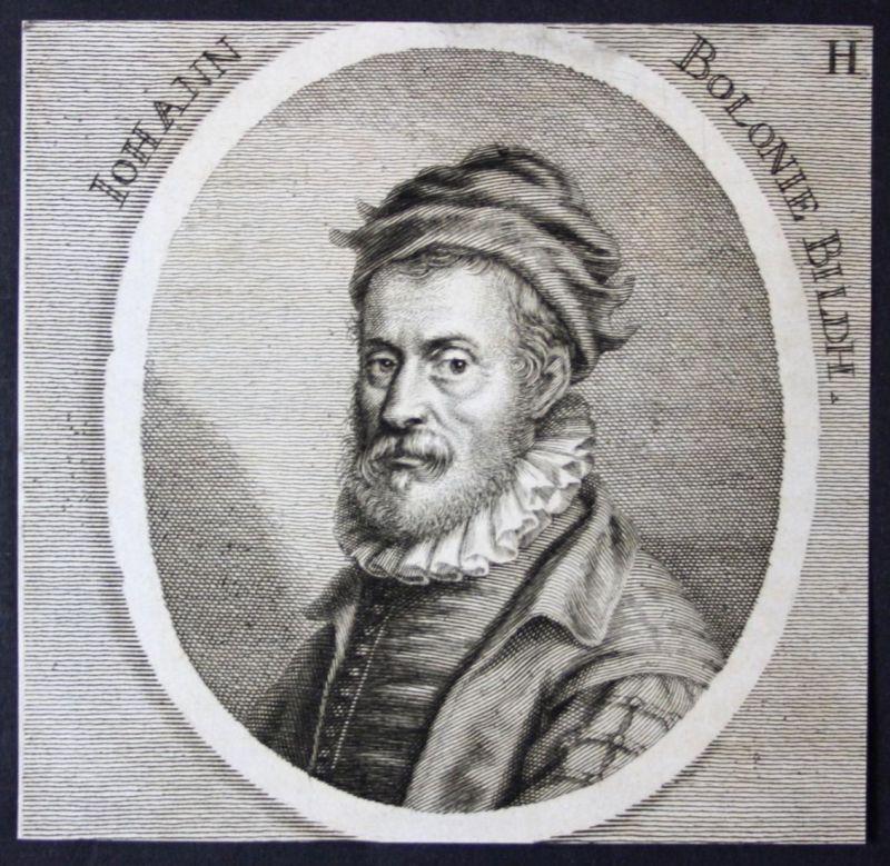 Iohann Bolonie - Giovanni Bologna Bildhauer sculptor Kupferstich etching Portrait