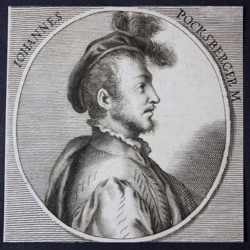 Iohannes Pocksberger - Hans Bocksberger Bocksperger Maler painter Kupferstich etching Portrait