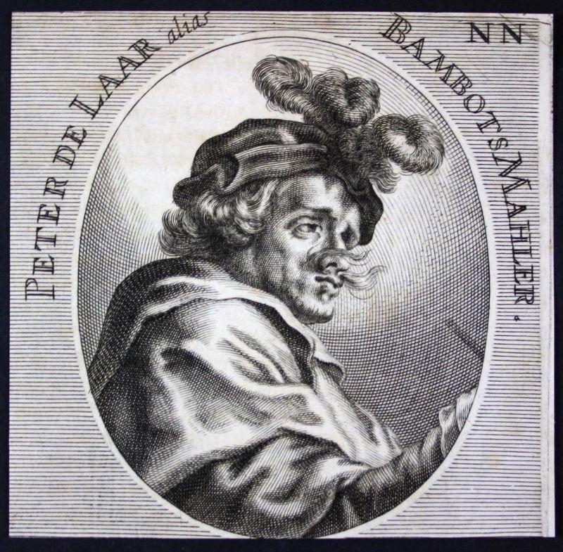 Peter de Laar alias Bambots - Pieter van Laer Maler painter Kupferstecher Kupferstich etching Portrait