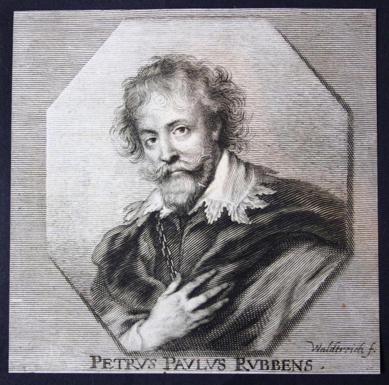 Petrus Paulus Rubens - Petrus Paulus Rubens Maler painter Kupferstich etching Portrait