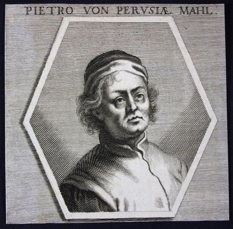 Pietro von Perusiae - Pietro Perugino Italia Italien Italy Maler painter Kupferstich etching Portrait