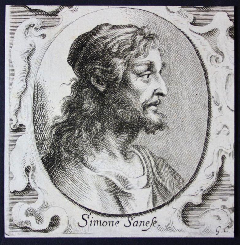 Simone Sanese - Simone Sanese Italien Italia Italy Maler painter Kupferstich etching Portrait